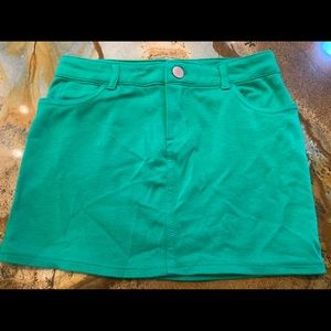 Green Gap miniskirt